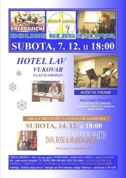 NAJAVA: Dolina blagoslova, 7. i 14. prosinca 2013., Vukovar
