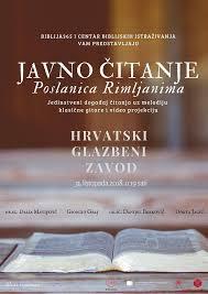 Javno čitanje Svetog Pisma, Zagreb, 31. listopada 2018.