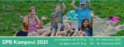 NAJAVA: Kamp za tinejdžere, 02. – 07. kolovoza 2021., Kamp za djecu, 09. – 14. kolovoza 2021., Severin na Kupi